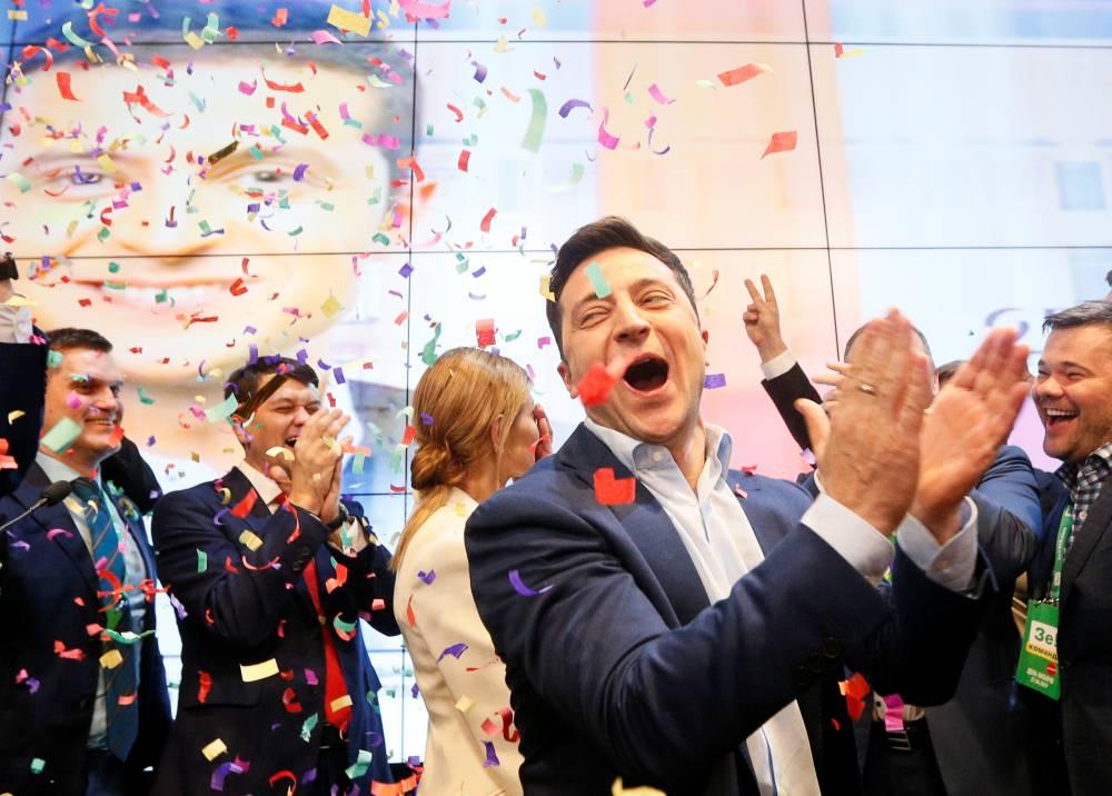 Wybory prezydenckie na Ukrainie - zwycięstwo komika.